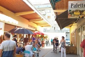 Schnellimbis zur Lahner Wurst Vorgartenmarkt 06.07.2019